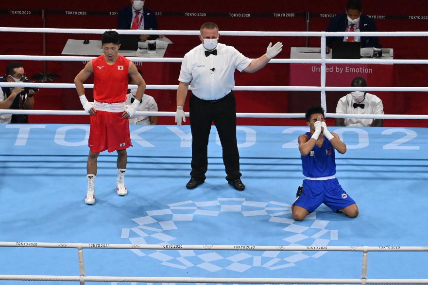 Ryomei Tanaka fue eliminado en la semifinal del boxeo de los Juegos Olímpicos Tokio 2020.