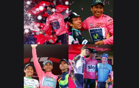 Colombia tiene dos títulos y cinco podios en el Giro de Italia.