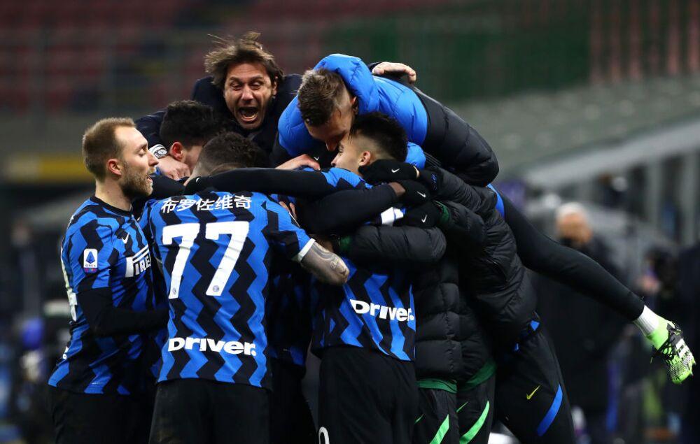 Inter de Milán celebra vs Lazio