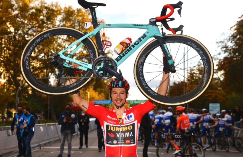 Primoz Roglic, campeón de la Vuelta a España 2020. Cortesía: @PhotoGomezSport