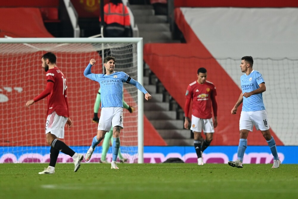 Manchester City ante Manchester United. Foto: AFP