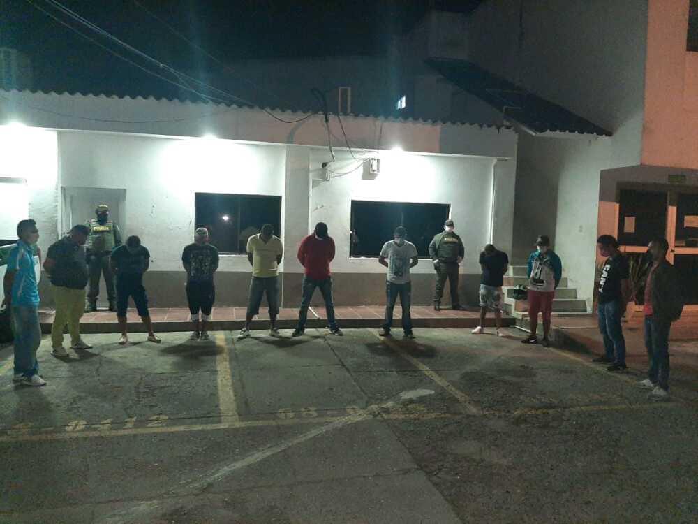 371443_Capturados durante fiesta clandestina en Montería. Foto: Cortesía