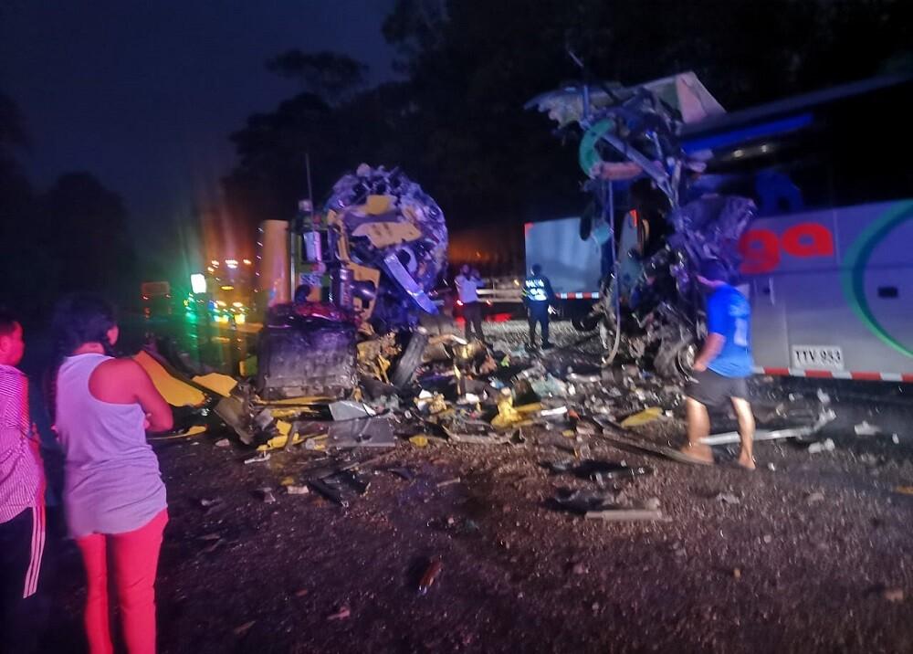 Accidente de bus Omega en Santander