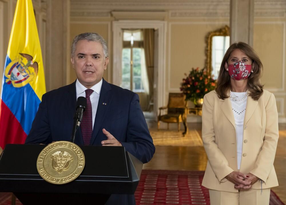 Iván Duque y Marta Lucía Ramírez. Foto Presidencia