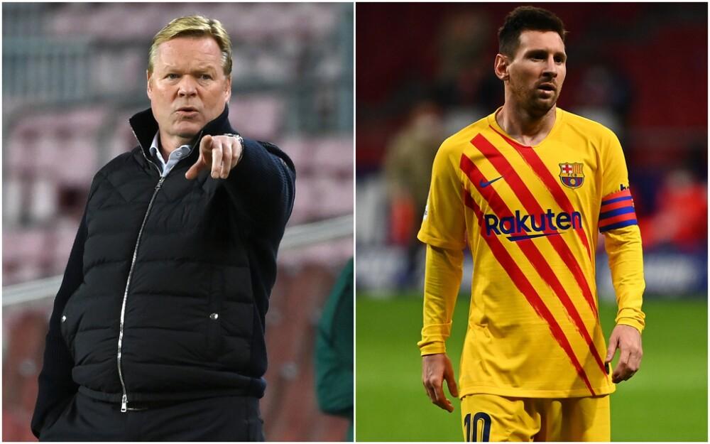 Ronald Koeman y Lionel Messi