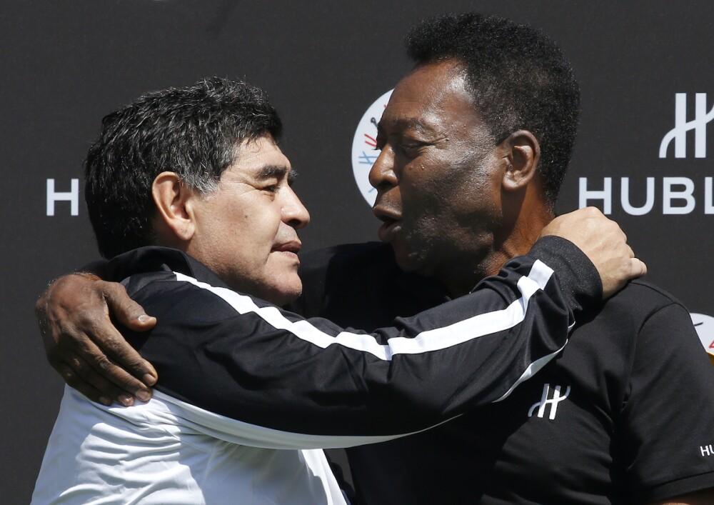 Maradona y Pelé / AFP