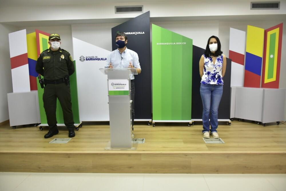 372215_BLU Radio //El alcalde Jaime Pumarejo dio a conocer este sábado nuevas medidas de contención de la pandemia // Foto: Alcaldía