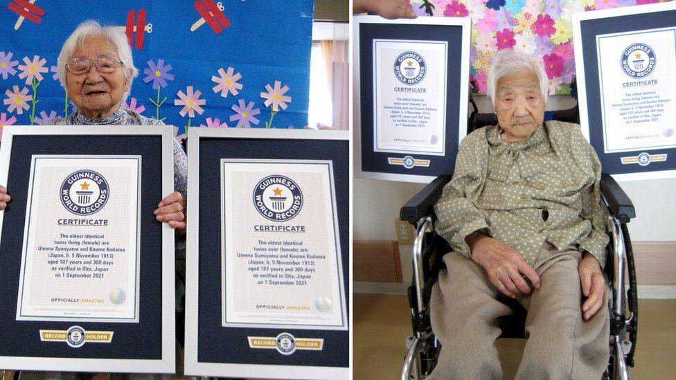 Japonesas rompen récord al ser las gemelas más ancianas hasta ahora