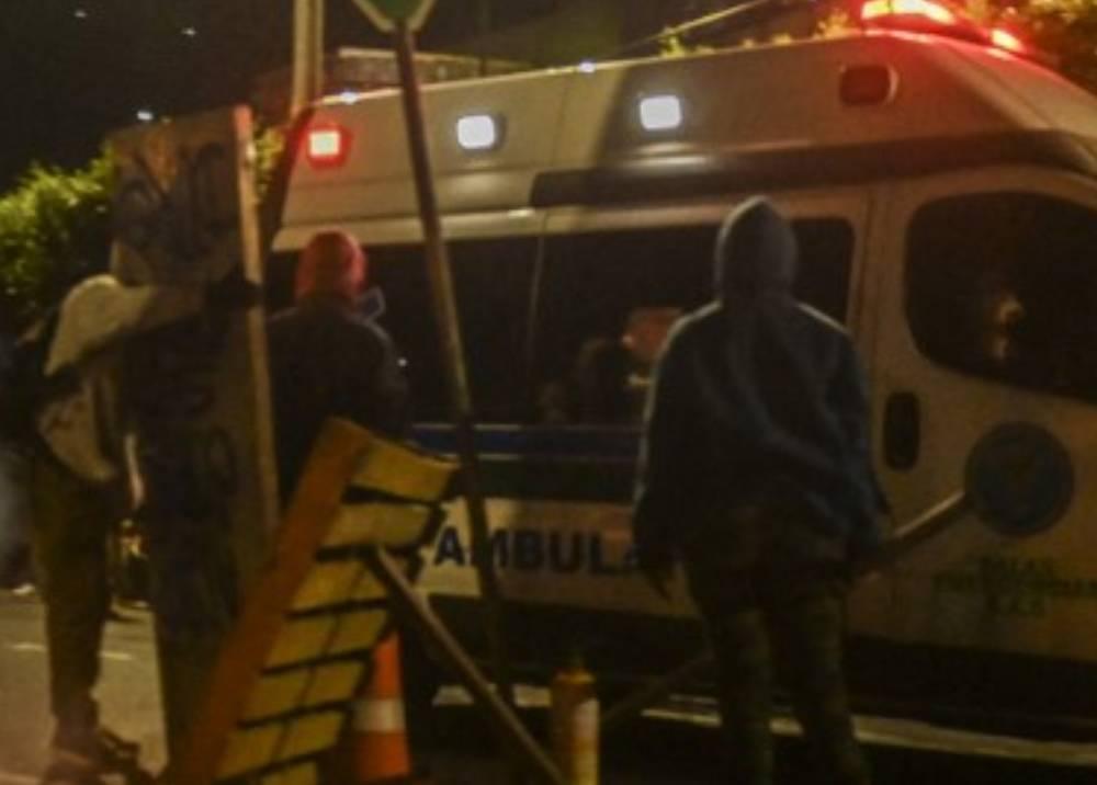 Retención de ambulancia por manifestantes