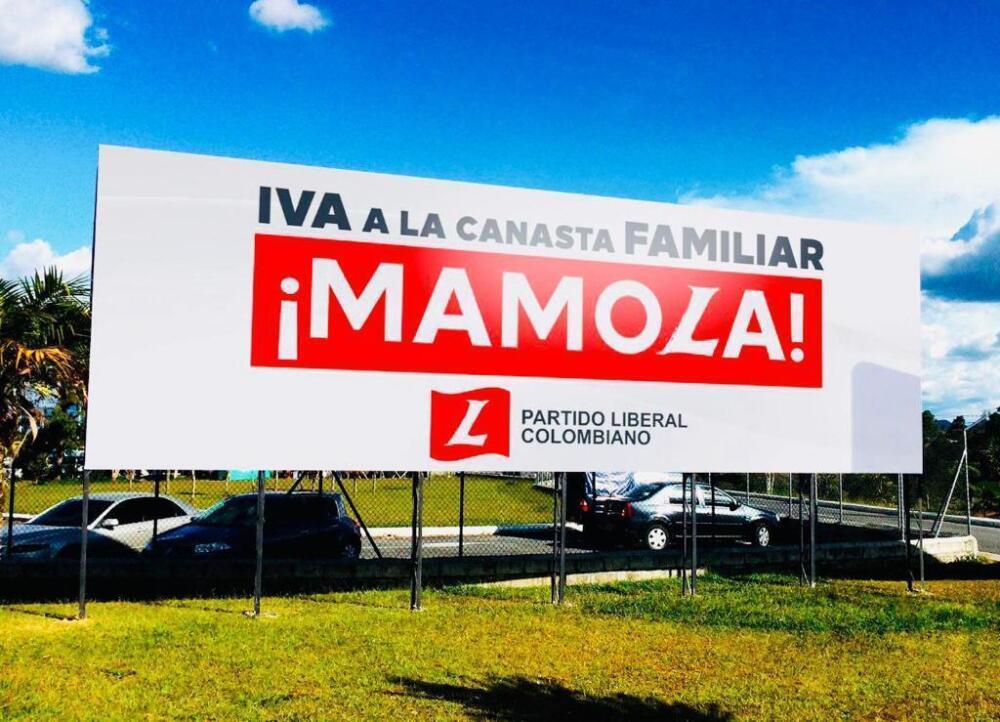 Valla del Partido Liberal. Foto Partido Liberal.jpeg
