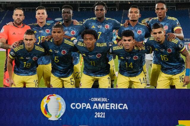 Selección Colombia contra Brasil, en Copa América