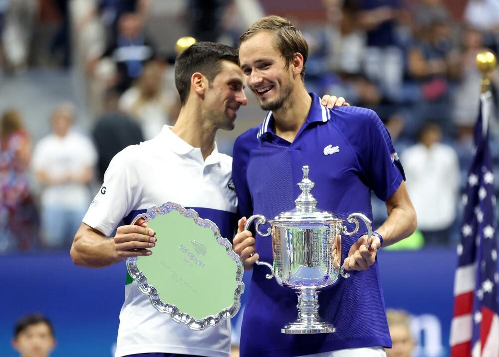 Novak Djokovic y Daniil Medvedev Foto AFP.jpg