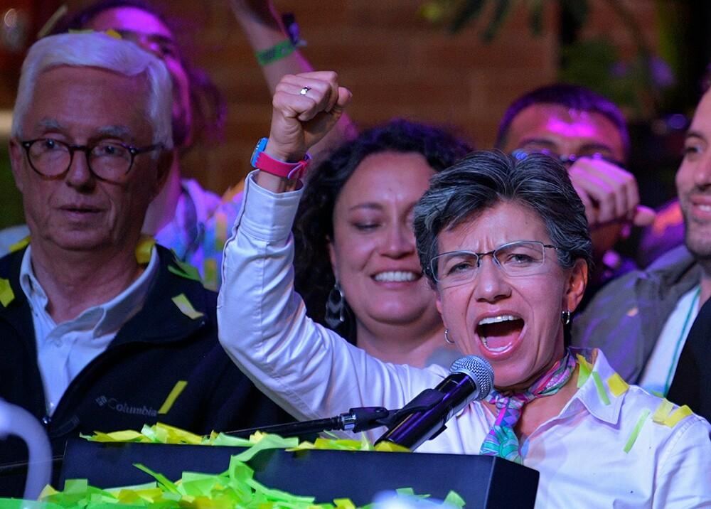 346973_Celebración de Claudia López, nueva alcaldesa de Bogotá // Foto: AFP