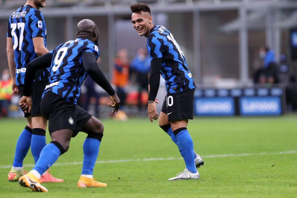 Lautaro Martínez y Romelu Lukaku Inter de Milán
