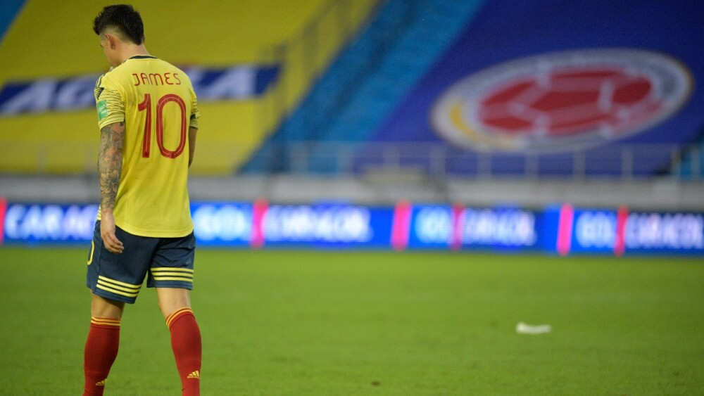 James Rodríguez Rubio con camiseta de la Selección Colombia