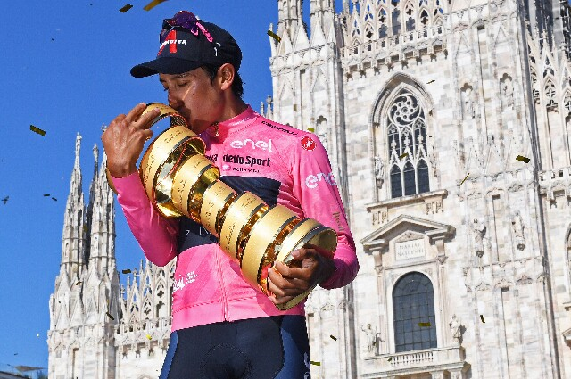 Egan Bernal, en el Giro de Italia