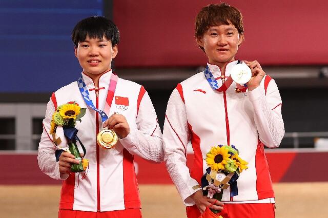 Zhong Tianshi y Bao Shanju, en los Juegos Olímpicos de Tokio 2020