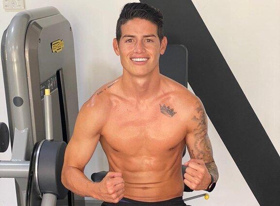 James entrenando