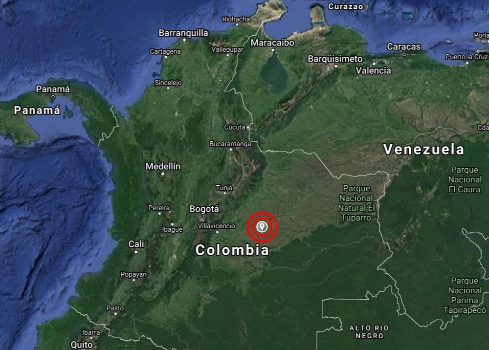 Temblor en Puerto Gaitán, Meta