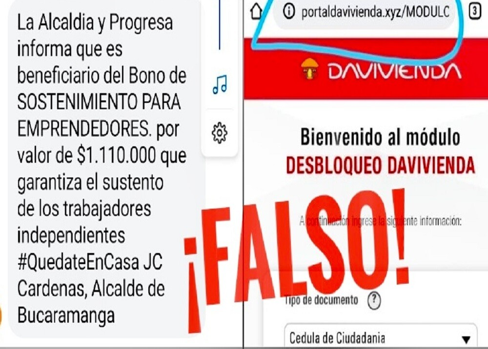 359392_BLU Radio. Mensajes falsos / Foto: Alcaldía de Bucaramanga