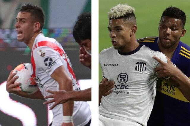 Rafael Santos Borré, Diego Valoyes y Frank Fabra
