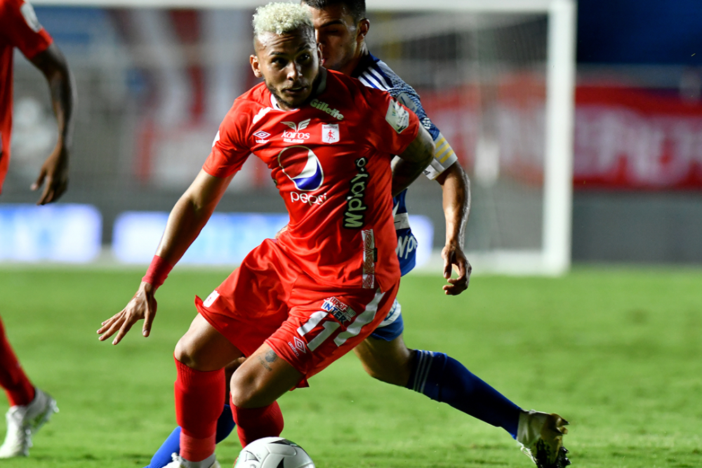 Duvan Vergara, jugador del América de Cali. Colprensa.png