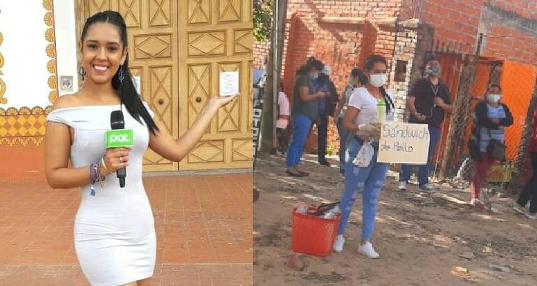 Periodista que vende comida en la calle