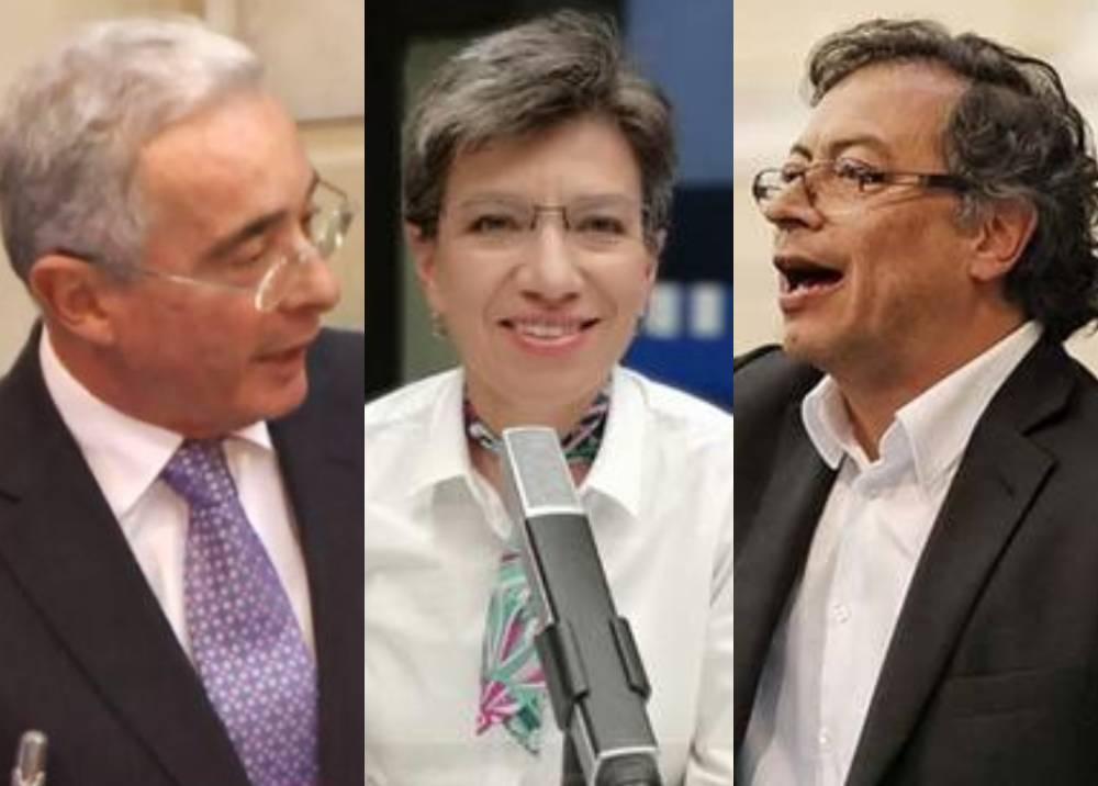 Álvaro Uribe - Claudia López - Gustavo Petro