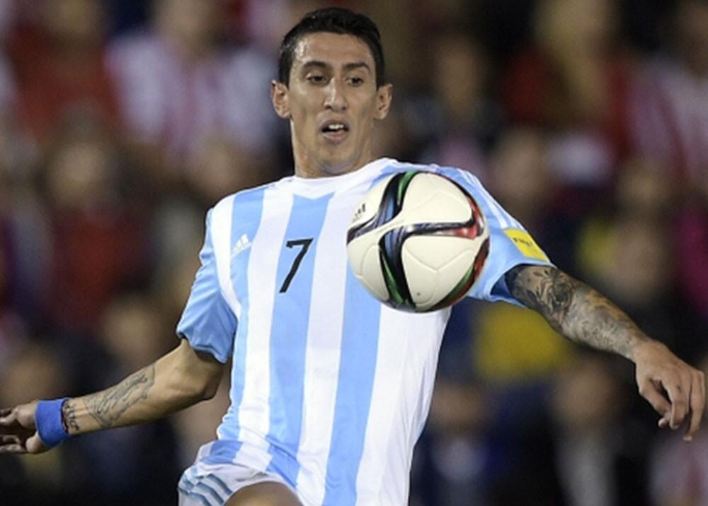 Ángel Di María vistiendo la camiseta de la Selección Argentina