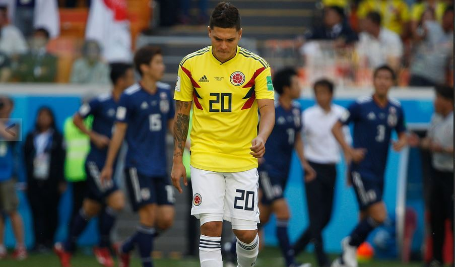 Juan Fernando Quintero vistiendo la camiseta de la Selección Colombia