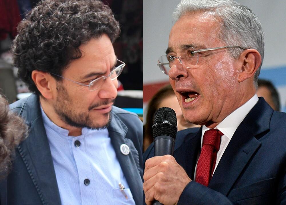 345851_Iván Cepeda y Álvaro Uribe Vélez // Fotos: Prensa Iván Cepeda, AFP