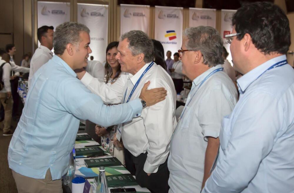 335810_BLU Radio. Iván Duque y Juan José Echevarría // Foto: Banco de la República