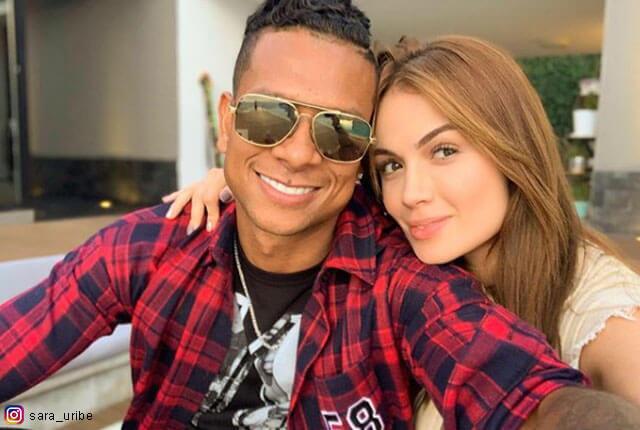 Fredy Guarín y Sara Uribe / Tomada de Instagram.