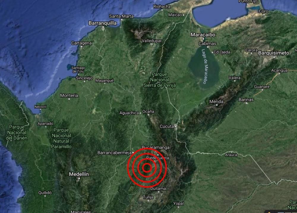 Temblor en Los Santos, Santander