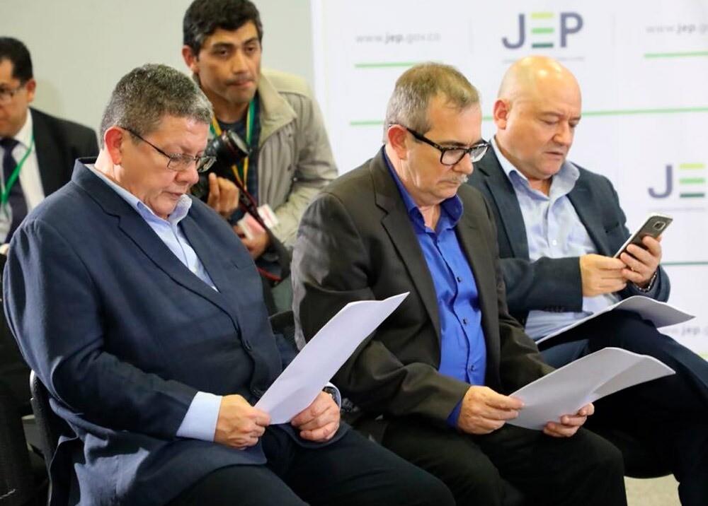 Jefes de Farc ante la JEP :: Foto: cortesía JEP.jpeg