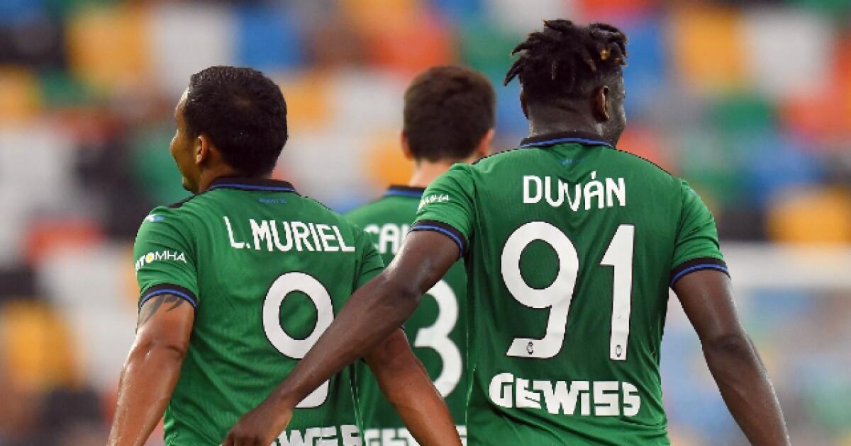Luis Fernando Muriel y Duván Zapata, al ataque: este miércoles juega Atalanta contra Sampdoria
