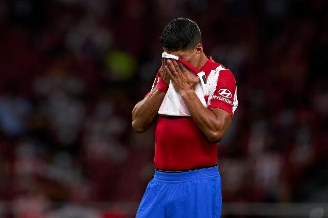 Luis Suárez, en el Atlético de Madrid