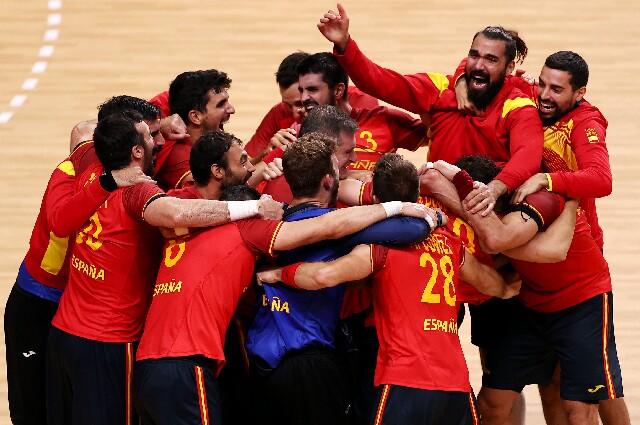 España contra Egipto, en balonmano de los Juegos Olímpicos de Tokio 2020