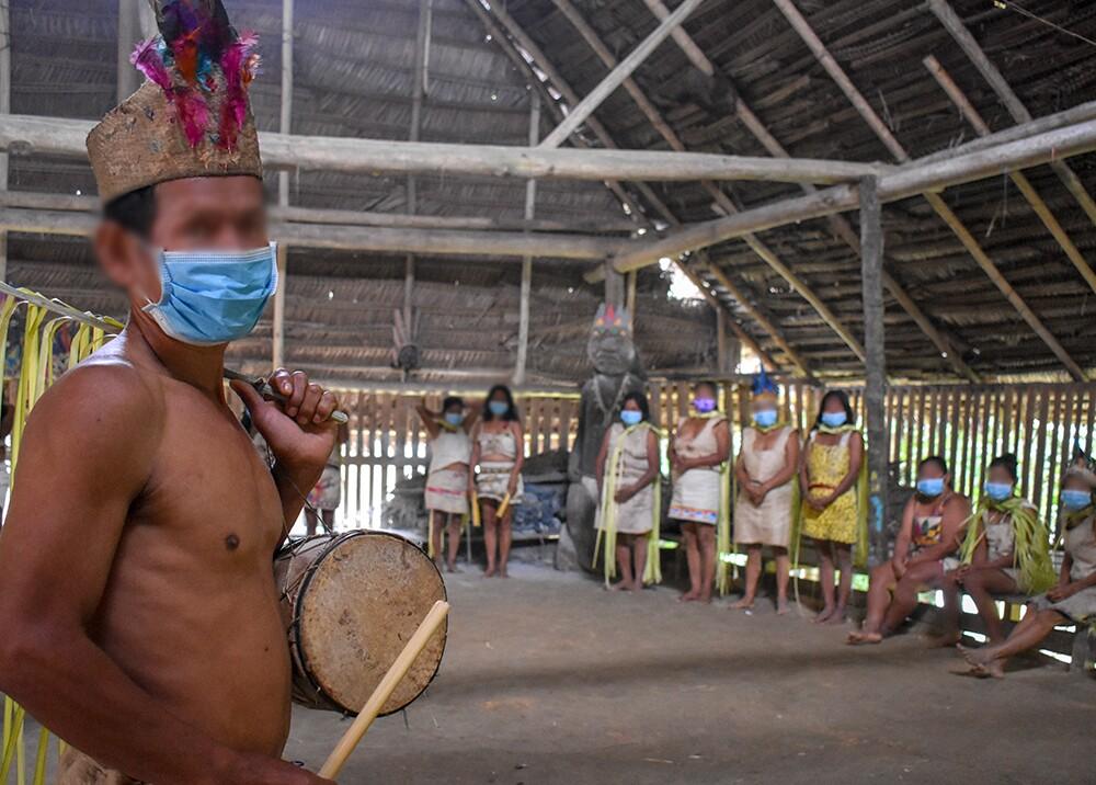 373914_Indígenas durante la pandemia del COVID-19 // Foto: AFP, imagen de referencia
