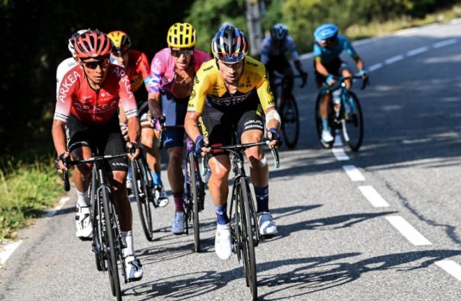 Nairo Quintana en el Tour de Francia 2020.