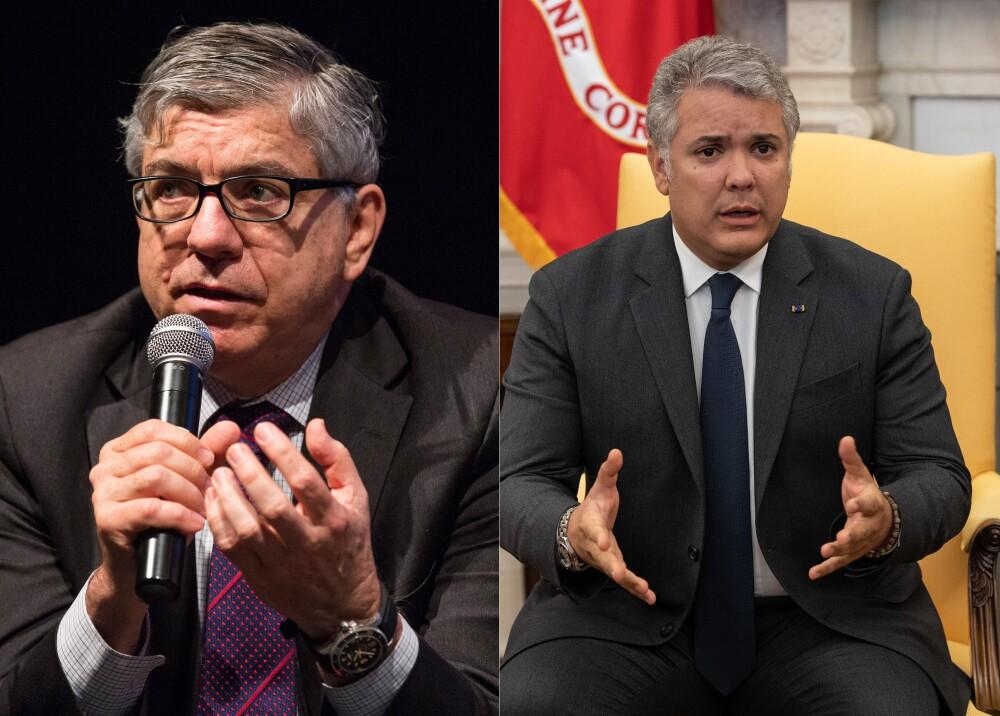 374366_César Gaviria e Iván Duque // Foto: AFP