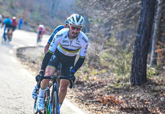 Julian Alaphilippe es tercero en la general del Tour de Provence. Foto: James Startt/Agence ZOOM