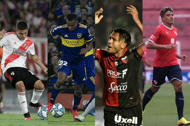 333248_Juan Fernando Quintero, Sebastián Villa, Wilson Morelo y Andrés Roa