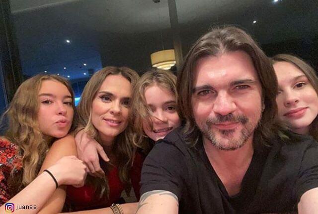 Juanes y su familia / Tomada de Instagram.