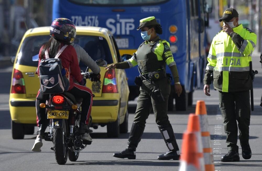Motociclistas en Colombia