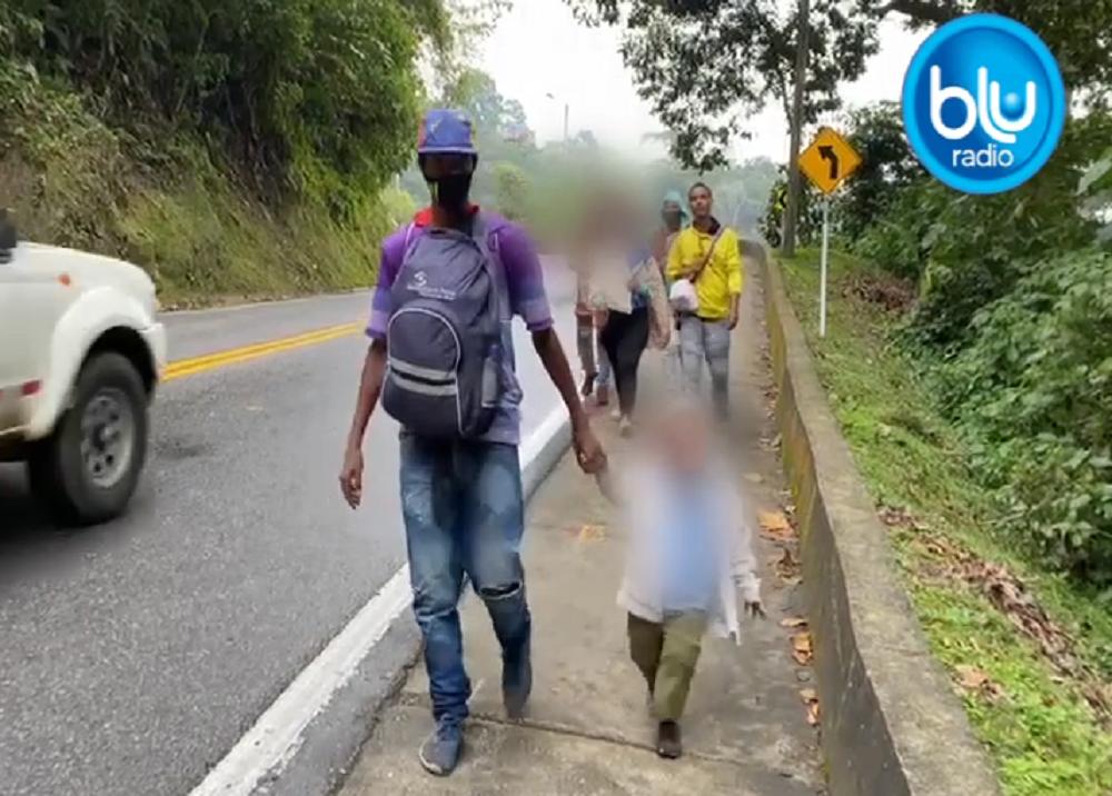 Nuevo éxodo de migrantes venezolanos por las carreteras de Colombia / Foto: Blu Radio