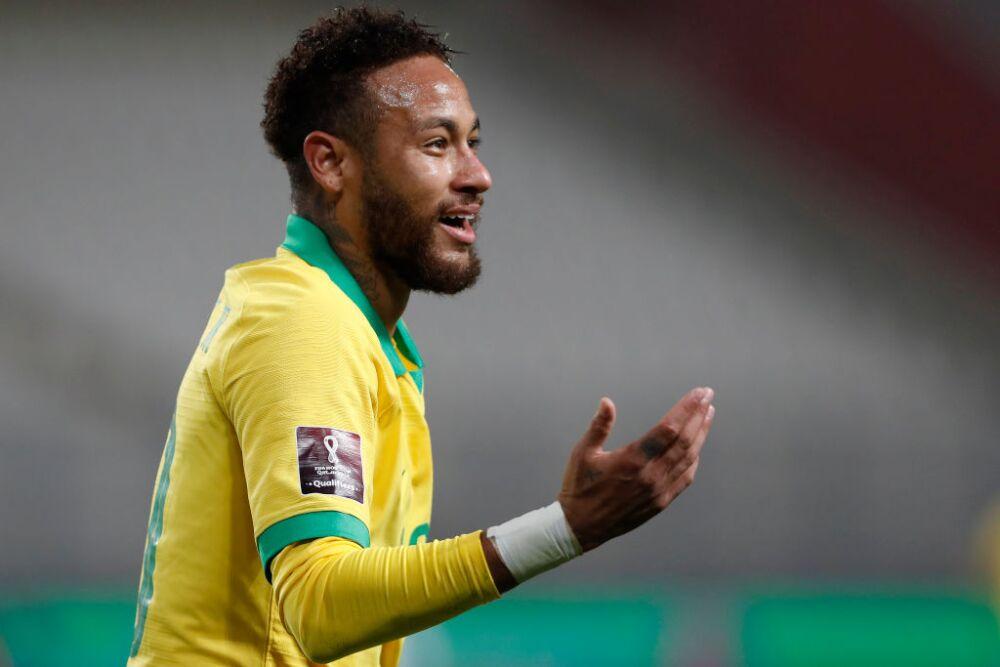 Neymar, jugador de la Selección de Brasil