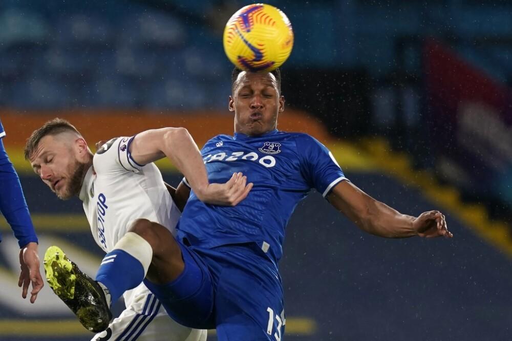 Yerry Mina, Everton vs Leeds