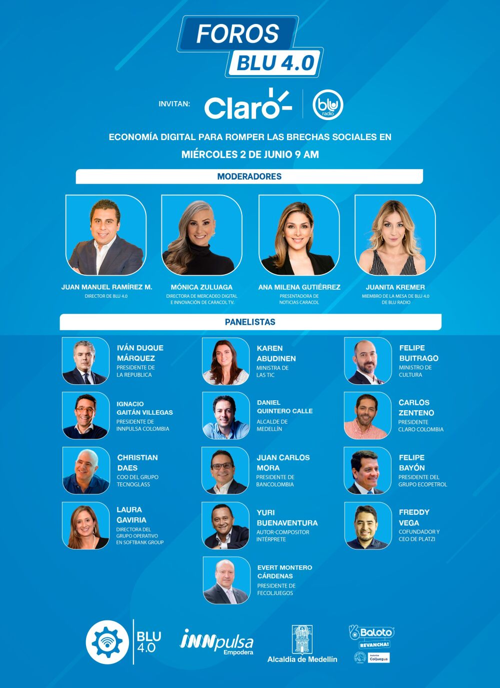 Foro Blu 4.0: Economía digital para superar las brechas sociales en Colombia