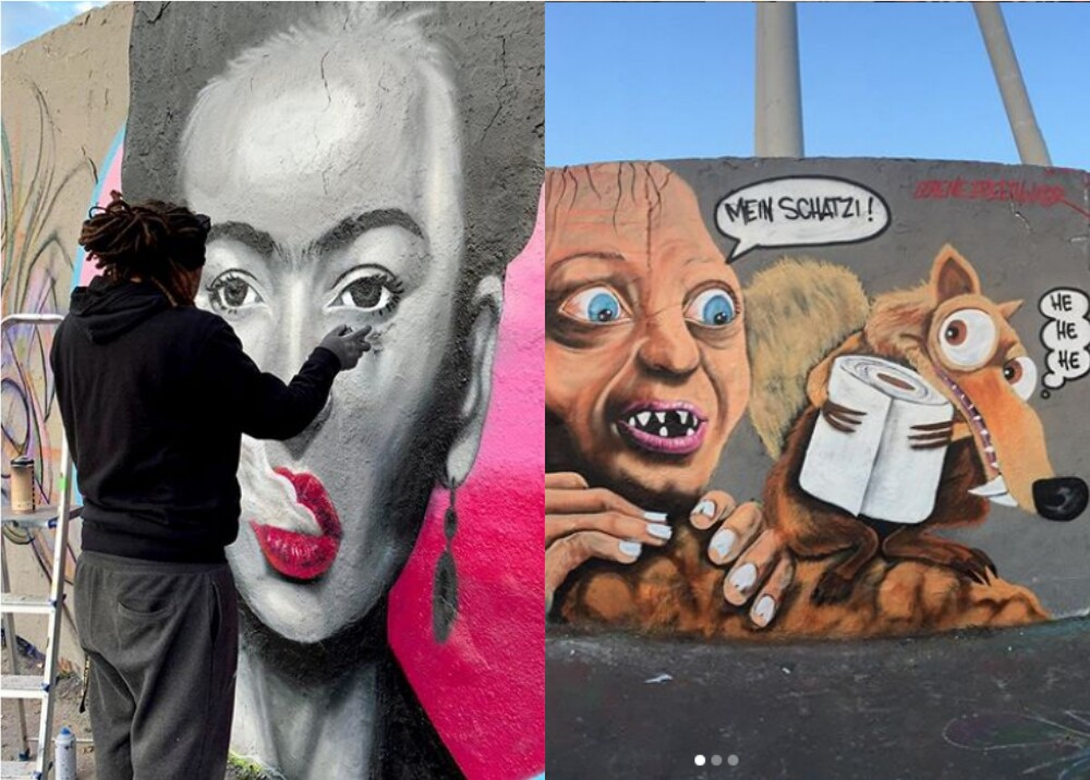 22409_Hombre hace grafitis sobre el coronavirus // FOTO: Instagram